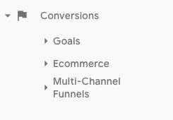 conversion report google analytics