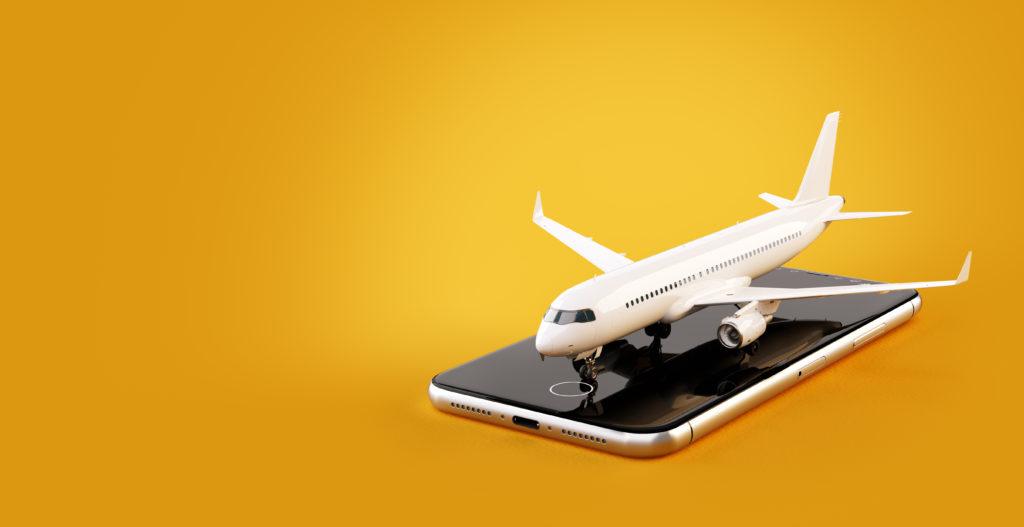 airplane landing phone